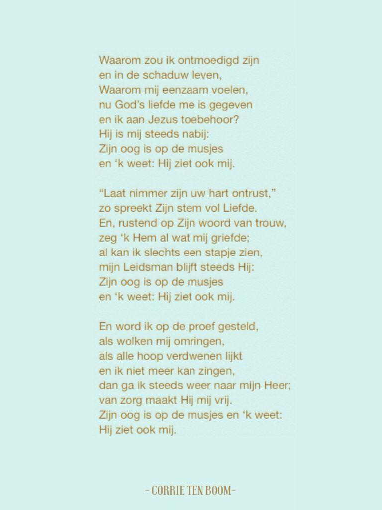 Gedicht Corrie ten Boom - bijbelteksten | Pinterest ...