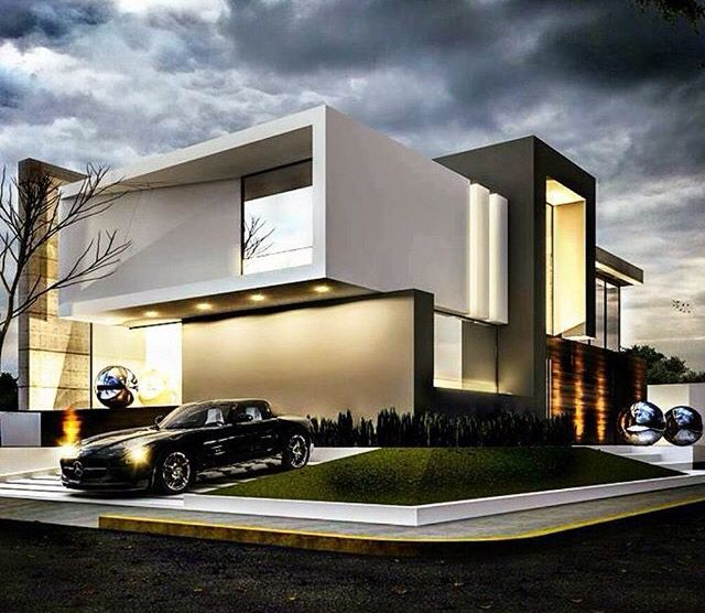 supercool house. black and white contemporary house