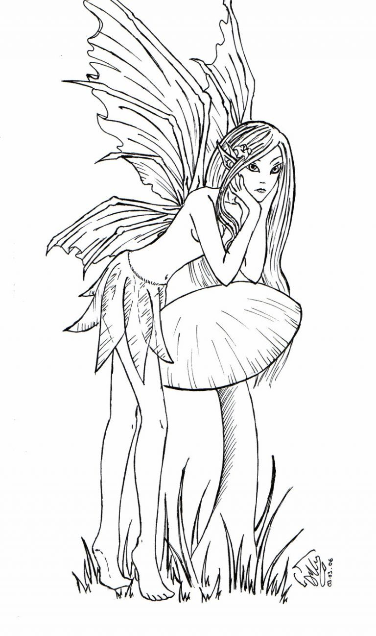 elfen und feen malvorlagen  supermalvorlagen  fairy