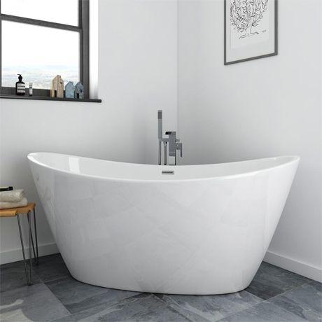 Sofia 1700 X 800mm Modern Double Ended Freestanding Bath Free Standing Bath Bathroom Freestanding Free Standing Bath Tub
