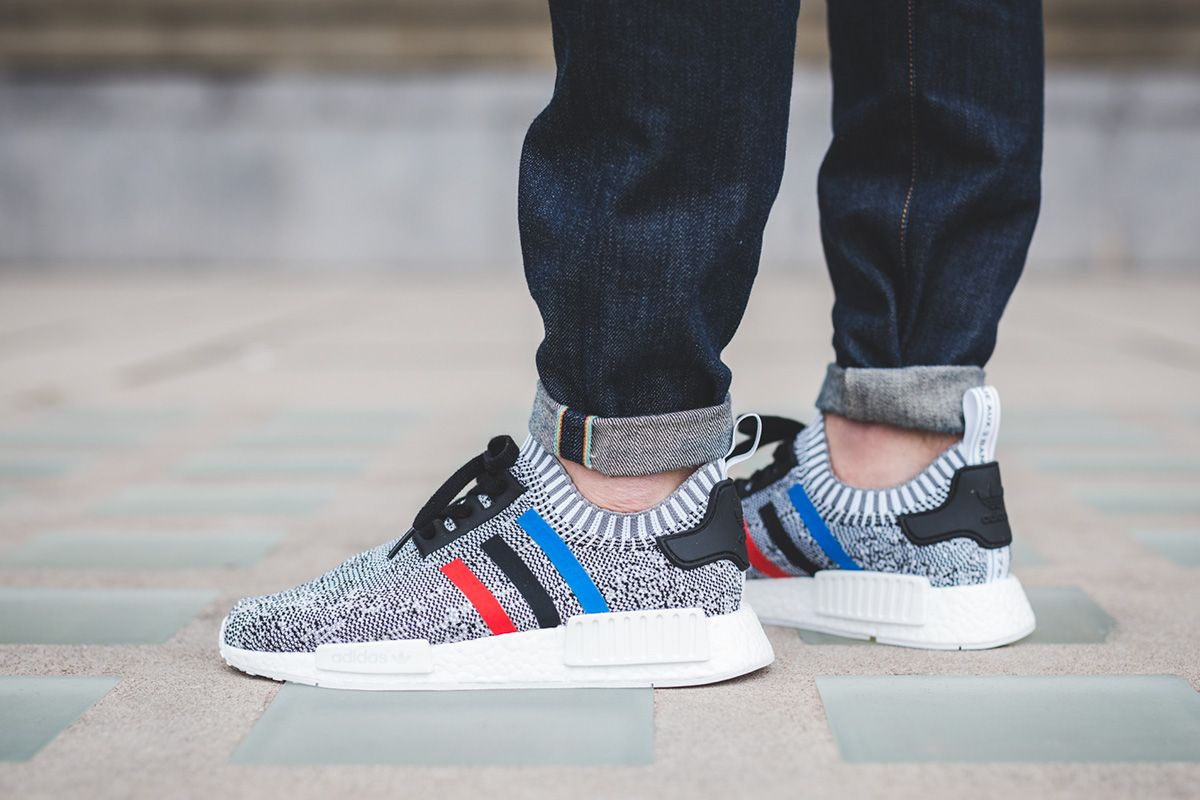 On Foot Adidas Originals Nmd R1 Pk Tri Color Pack Sneakers Men