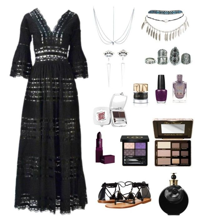 """Bohemian Witch"" by elio-t on Polyvore featuring Wet Seal, Anton Heunis, Soludos, Lipstick Queen, Valentino, Gucci, Too Faced Cosmetics, Benefit, OPI and Smith & Cult"