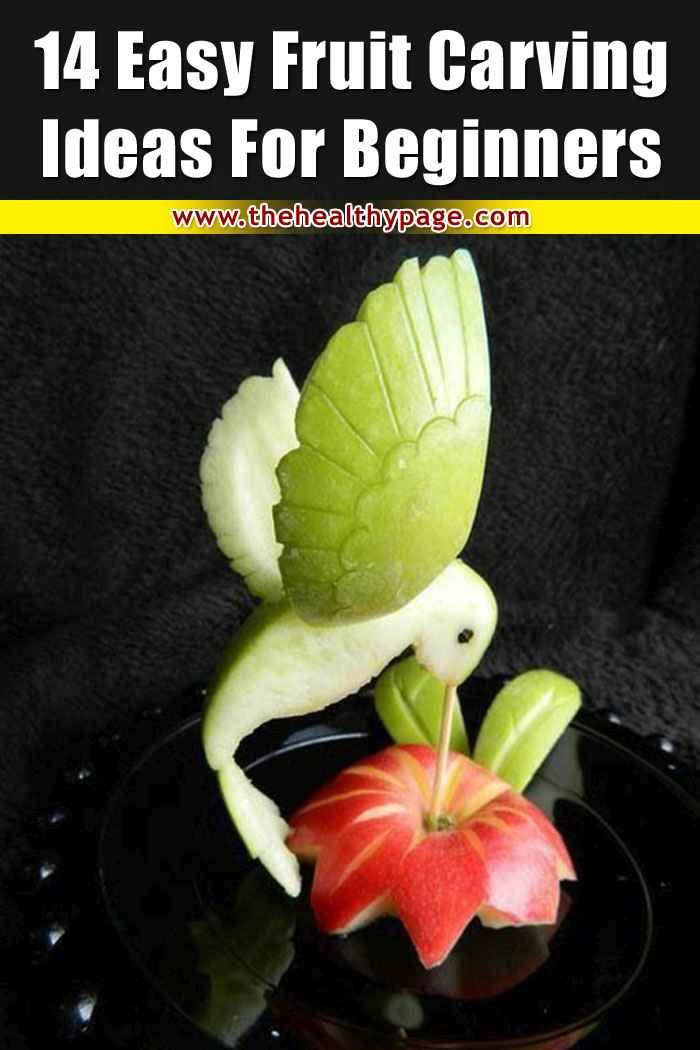 14 Easy Fruit Carving Ideas for Beginners in 2020 | Fruit ...