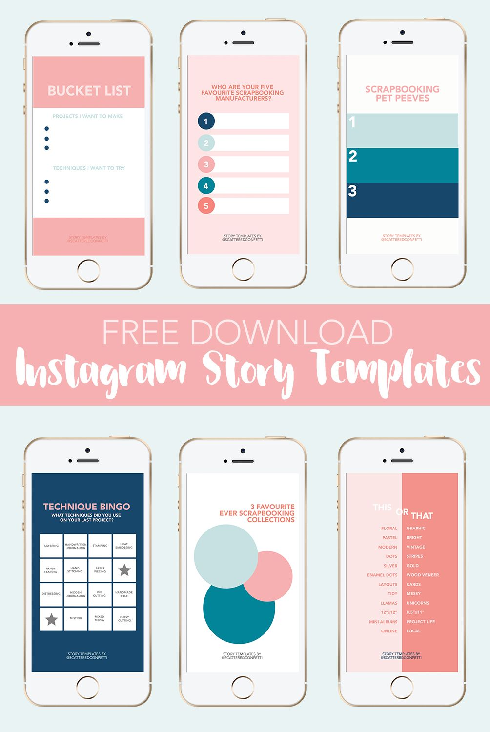 Free Download: Scrapbooking Related Instagram Story