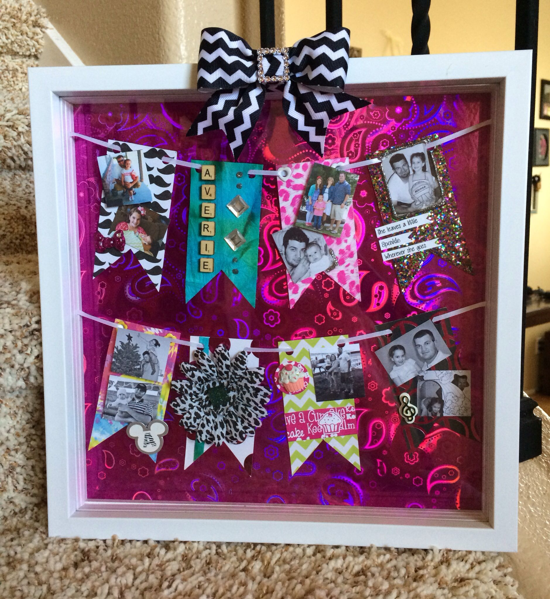 Hangingpendant photo shadow box for my stepdaughter