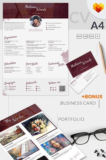 Melissa Woods - Visual Artist Resume Template Resume Templates - artist resume template
