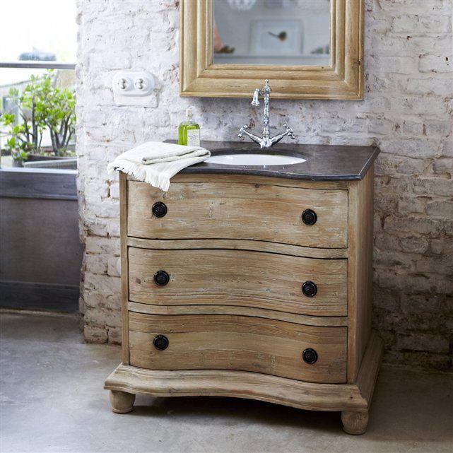 la redoute 1015,50 € meuble salle de bain simple vasque en pin