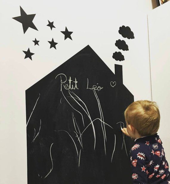 Adhesive Accent Wall Slate: Adhesive Slate Casita To Paint With Chalk. Decorative