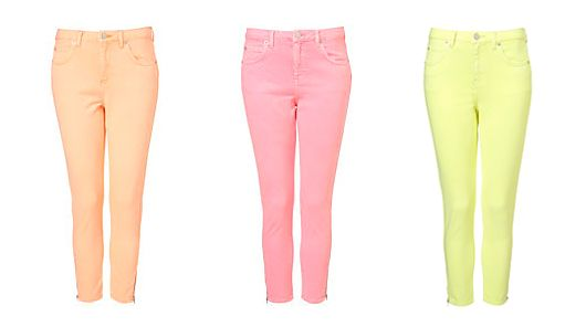 Nearly Neon Skinnies | Neon, Colors and Topshop