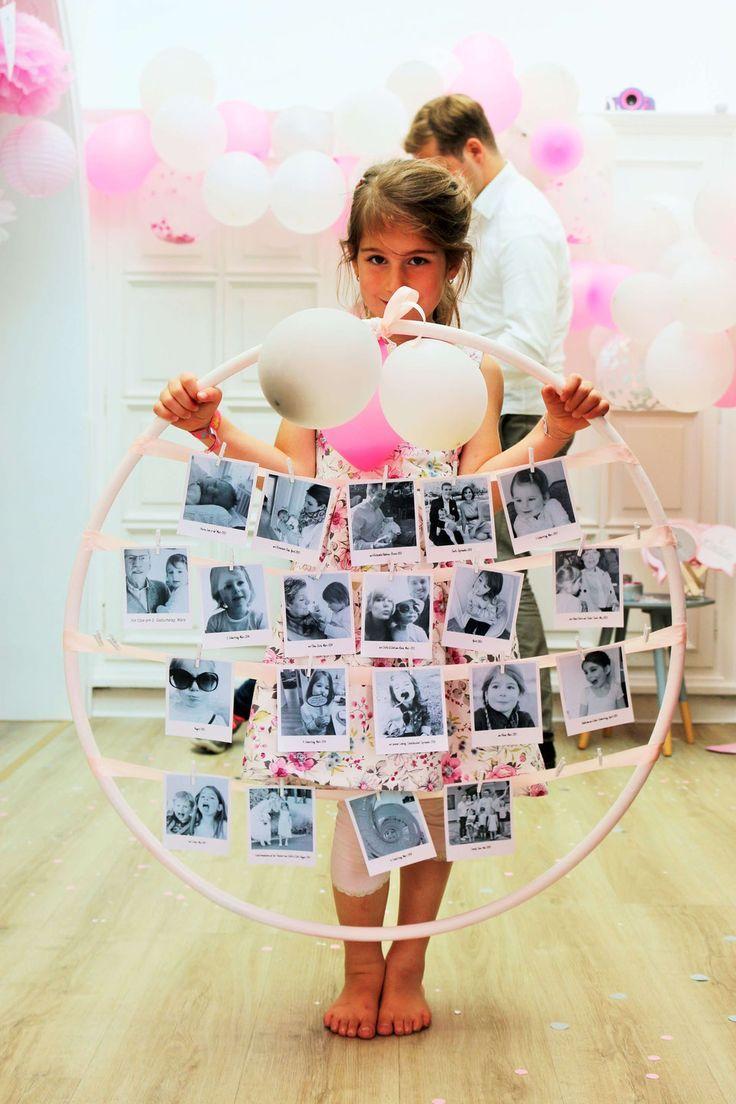 DIY Hula Hoop Deko mit Fotos   - Einschulung -