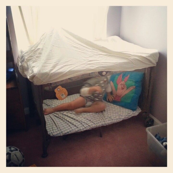Playpen into reading area. Just cut out one side use crib sheets to cover the botton and make a tent on top and abb pillows so its comfy. & Playpen into reading area. Just cut out one side use crib sheets ...