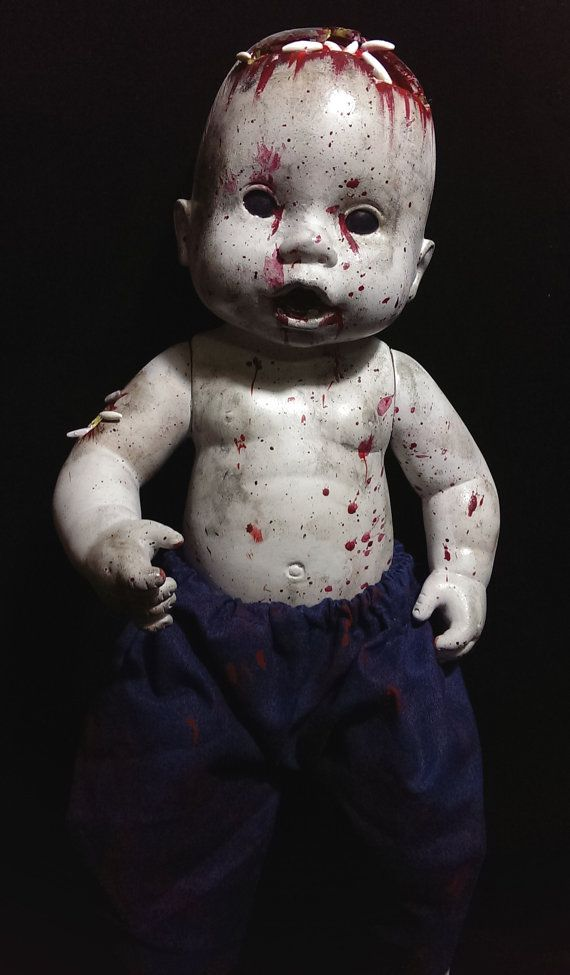 Rotton Demon Zombie Doll With Maggots Ooak Halloween