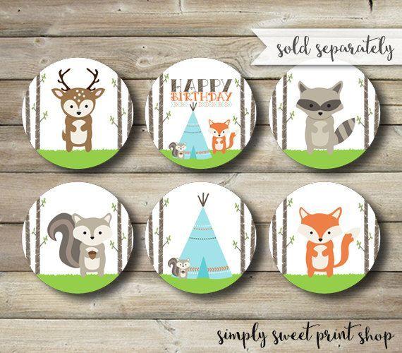 Woodland Animal Little Critter Birthday by SimplySweetPrintShop