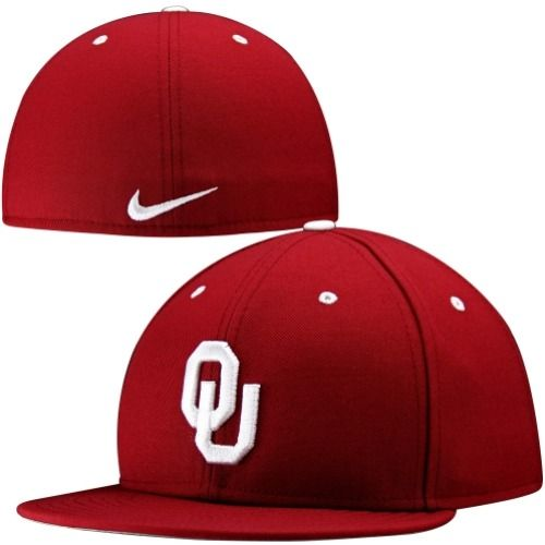 90bd7722b8b145 $27.95 Nike Oklahoma Sooners Crimson Baseball Authentic 643 Fitted Hat