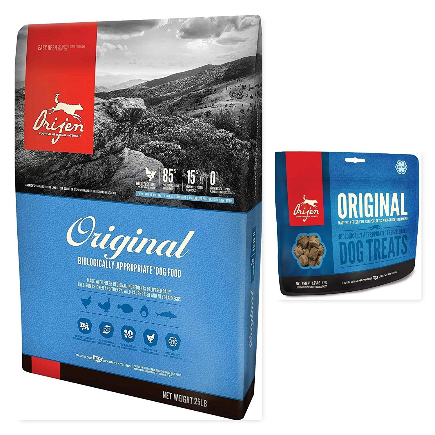 Buyitnow 1 25 Lb Bag Dry Orijen Original Dog Food 1 3 25 Oz