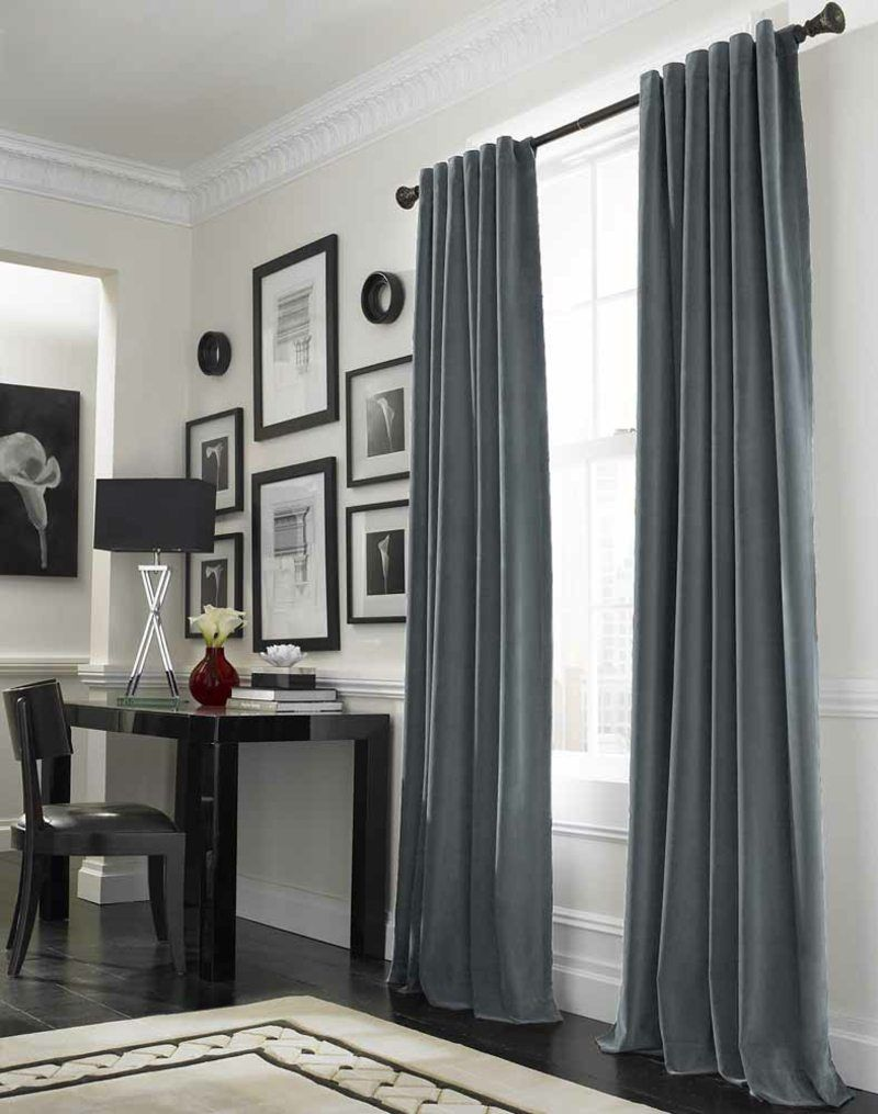 Blaugraue Vorhange Schlafzimmer Vorhange Wohnen Vorhange Wohnzimmer