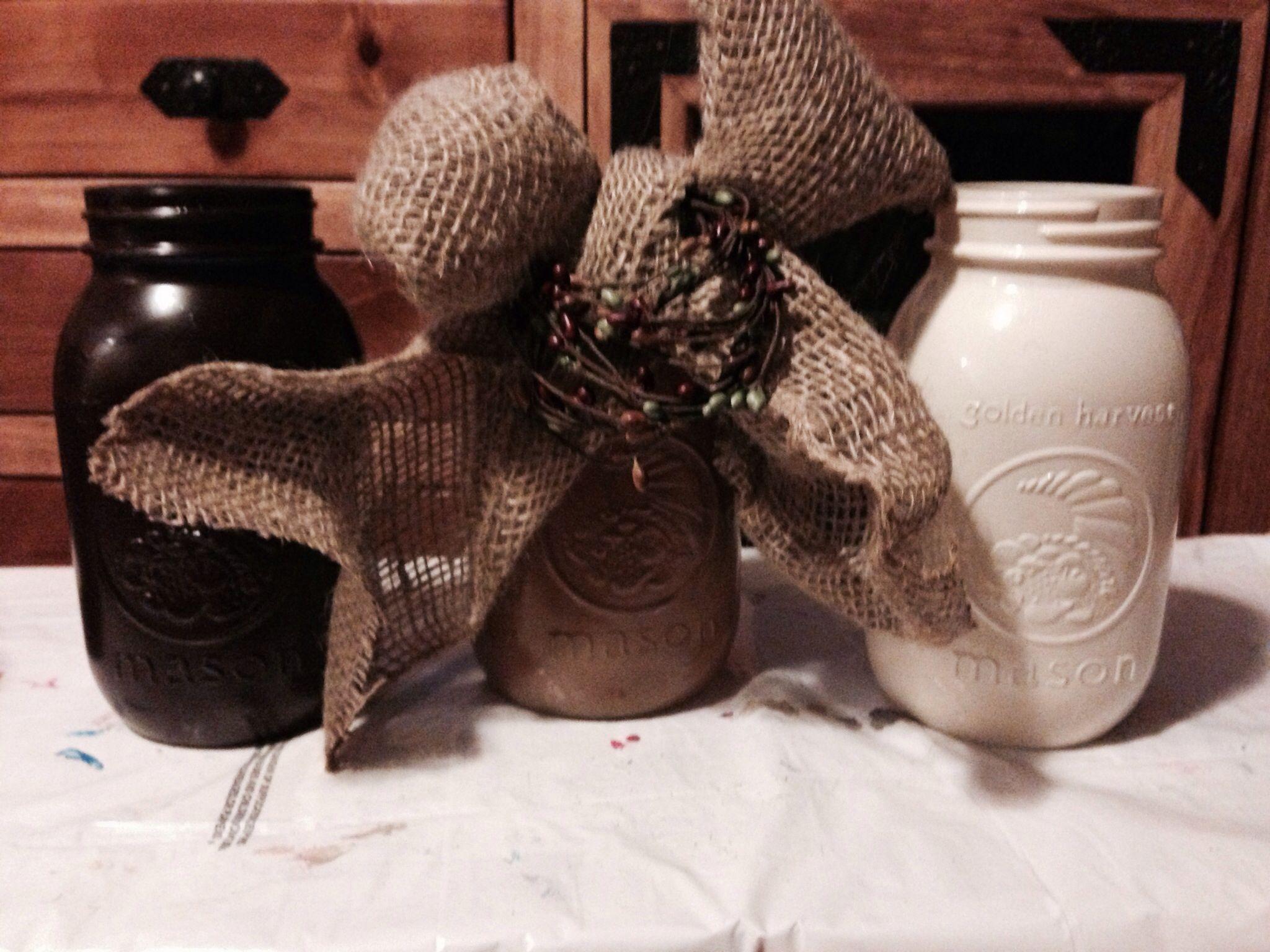 Painted mason jars!!