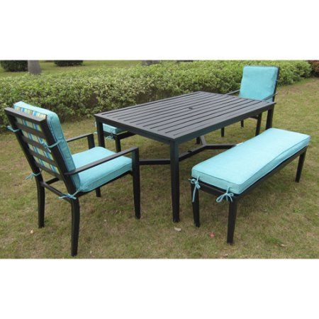 Mainstays Rockview 5 Piece Patio Dining Set Black