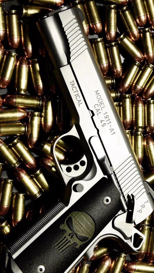 Bullet Stack Gun Weapon Military iPhone 5s wallpaper