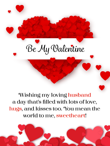 You Re My Sweetheart Happy Valentine S Day Card For Husband Birthday Greeting Cards By Davia In 2020 Happy Valentine Happy Valentines Day Birthday Greeting Cards