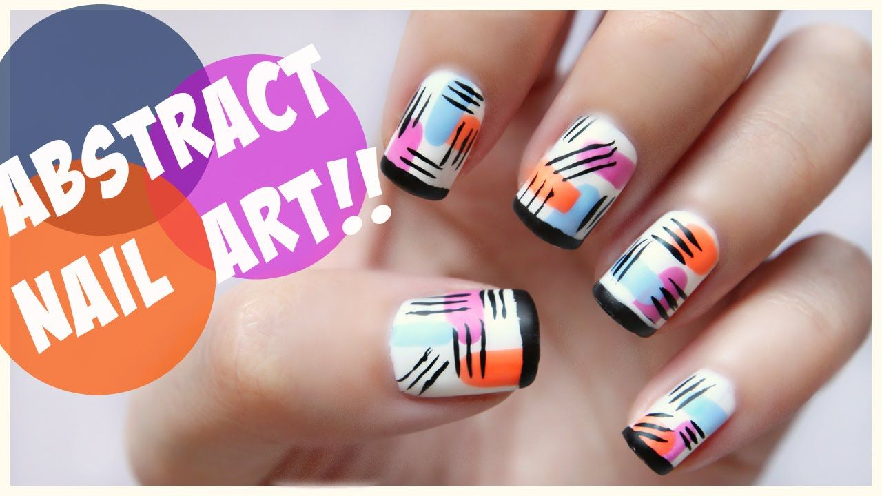 Matte Abstract Nail Art Missjenfabulous With Images