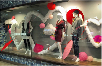 Look Of Love Valentines Day Window Displays At Kingsway Mall