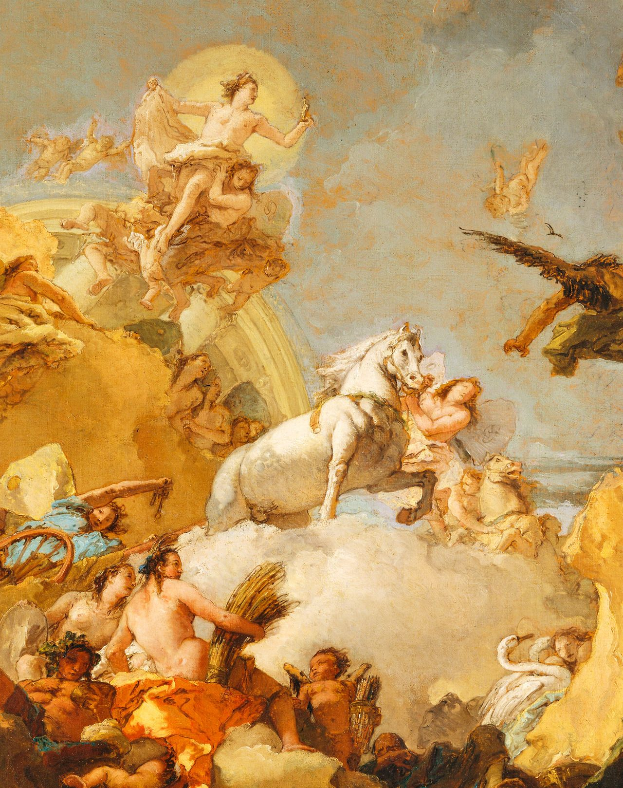 Tiepolo The Chariot Of Aurora Paintings Painting Art