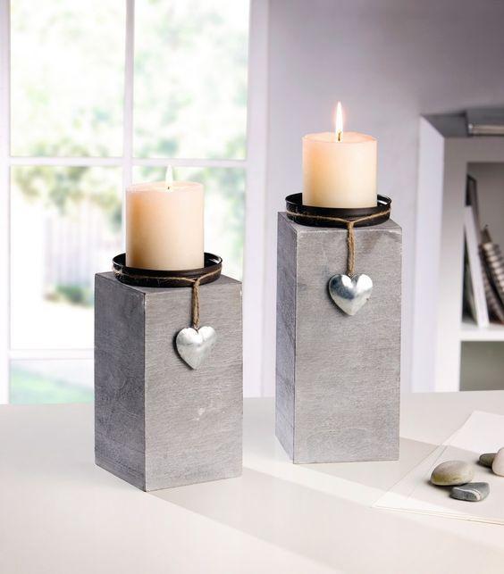 kerzenhalter little heart 2er set jetzt f r 15 50. Black Bedroom Furniture Sets. Home Design Ideas