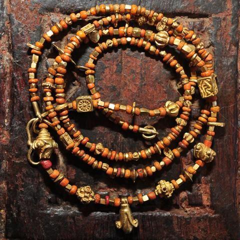 AP 123 Fine Authentic Ancient Pyu Gold Necklace