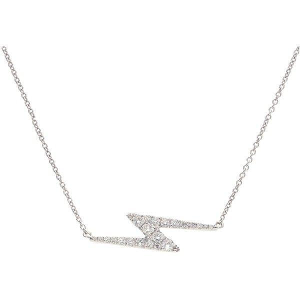 London Road Jewellery Portobello White Gold Diamond Zig Zag Geo Necklace Fg0IBArWk
