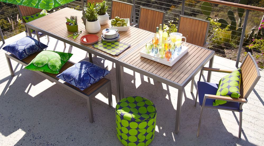 Outside Dinning Outdoor Dining Patio Decor Alfresco Dining Table