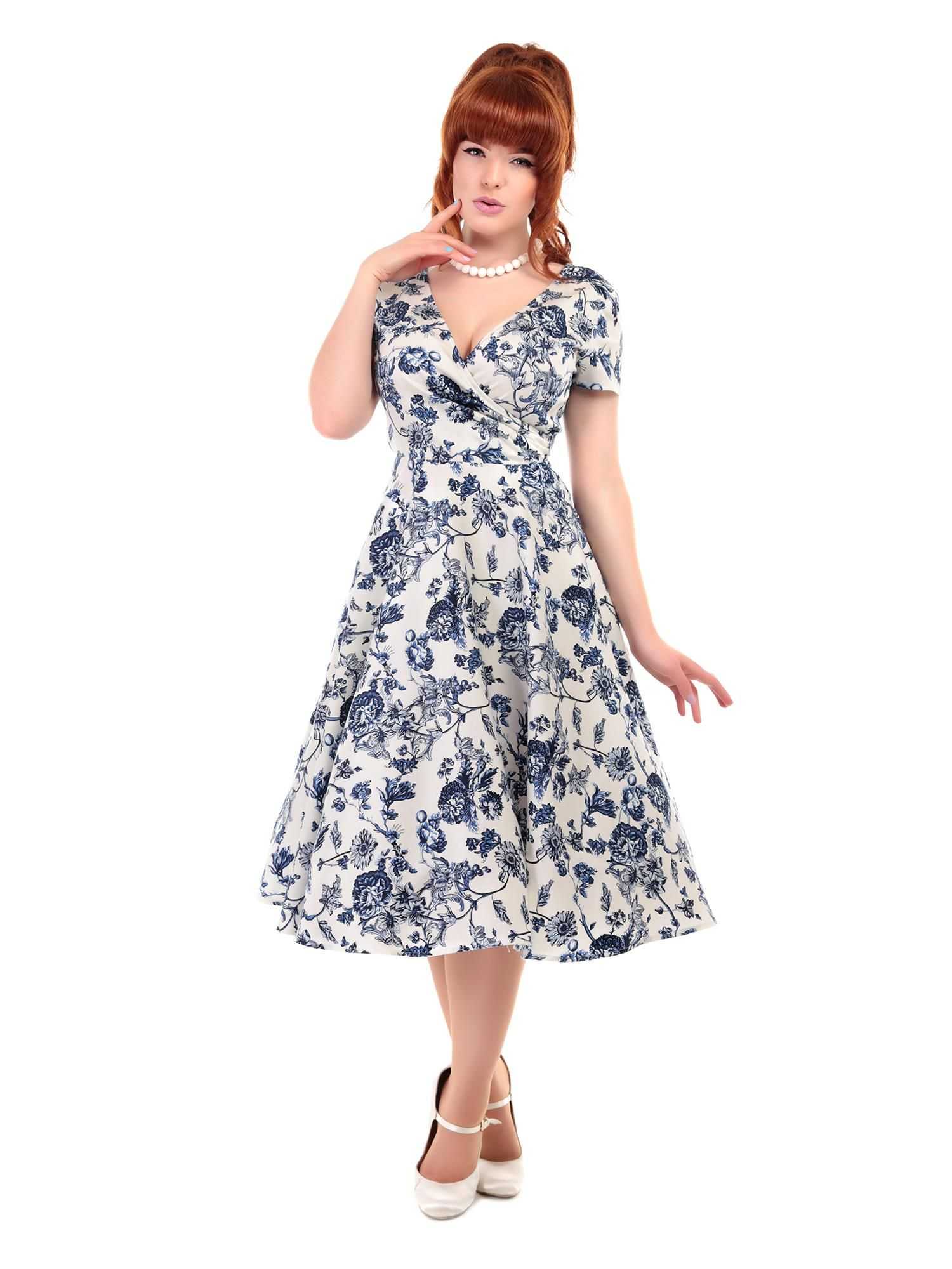 0a82118d659d Maria Toile Floral Print Swing Dress 0 | Style it out | Vintage ...