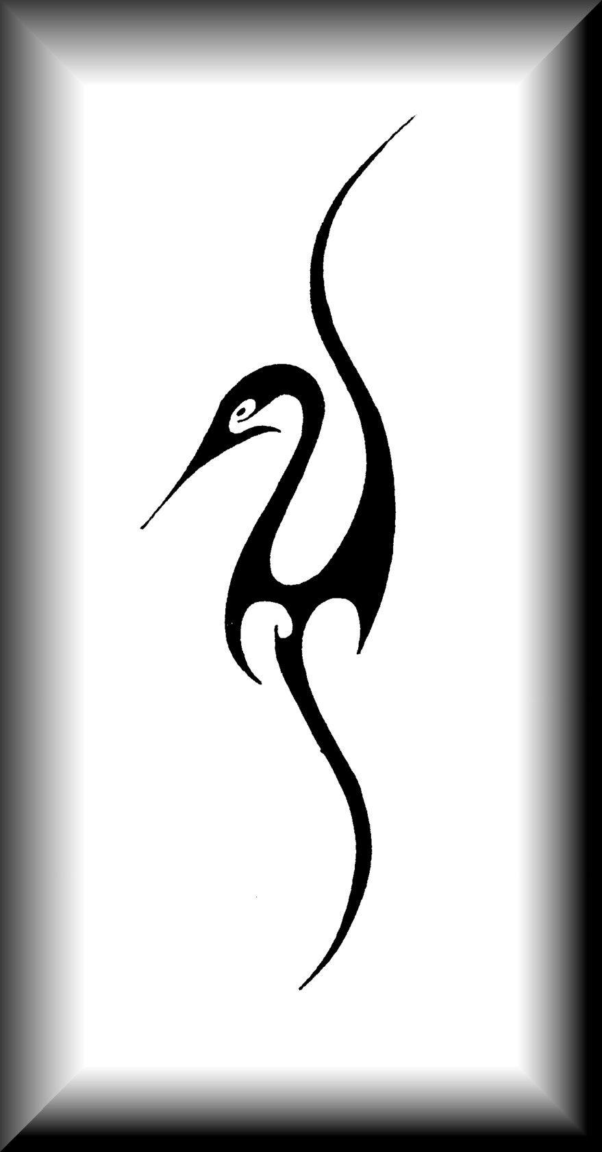Tribal Heron By Joharasaluki On Deviantart Heron Tattoo Bird Silhouette Art Tribal