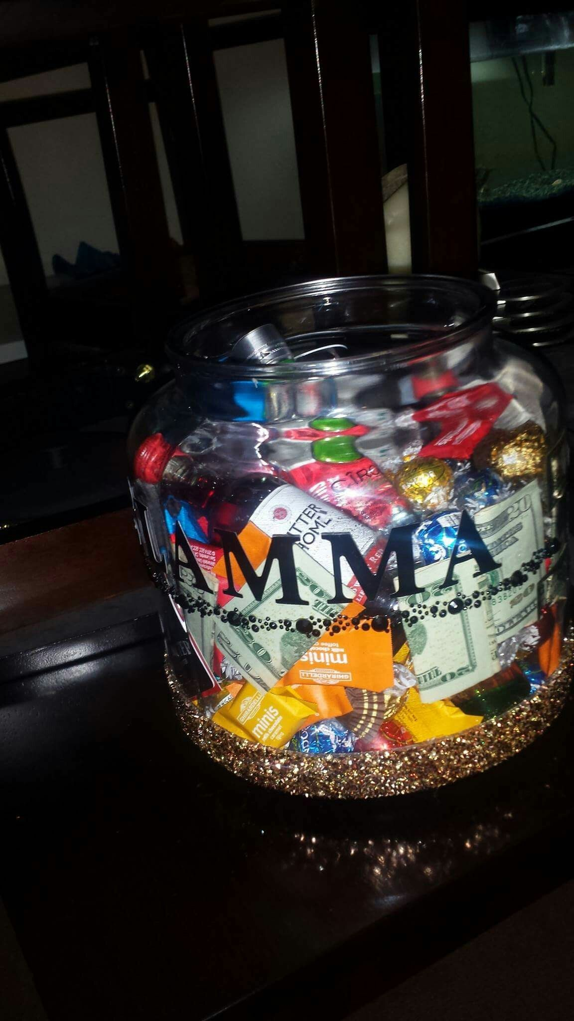 Glam-ma mother's day goodie jar