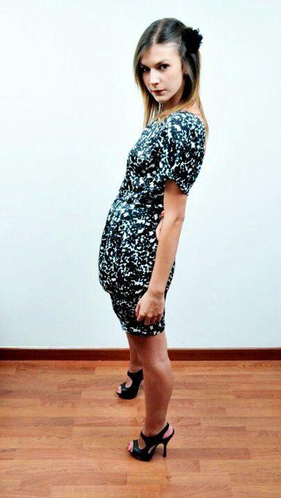Vestido  estampado by Cristal Black