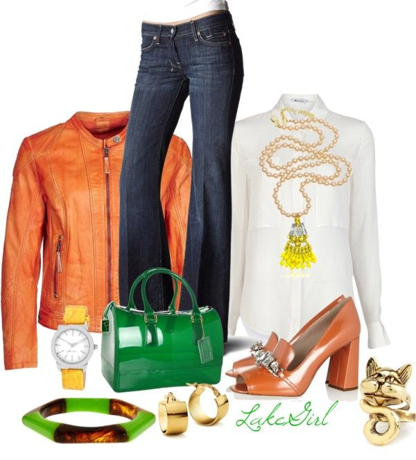 """""""Yellow, Orange, Green Contest"""" by lakegirl511 ❤ liked on Polyvore"""