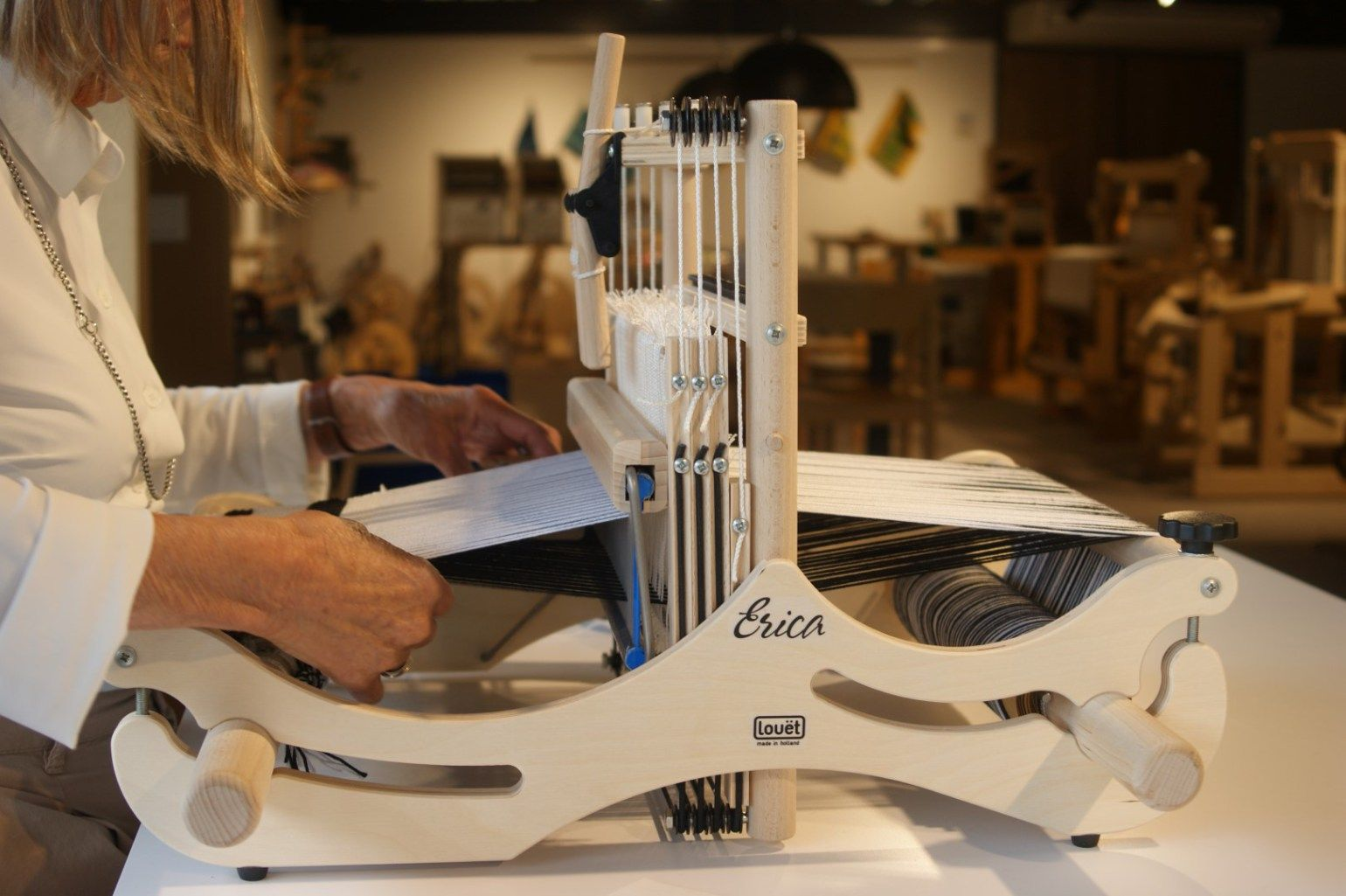 """Erica is a compact table loom with 30 cm (11 ¾"""") weaving"""