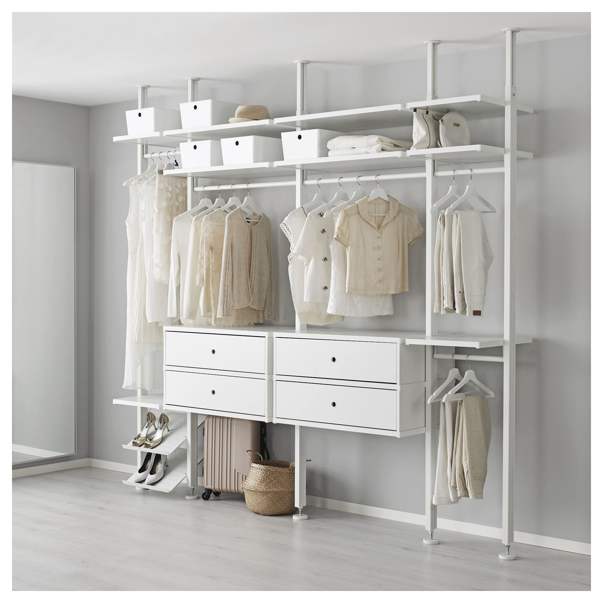 Furniture Kleiderschrank Offenes System Luxury Fene Elvarli 4 Sections White New Room Elvarli Offene Garderobe