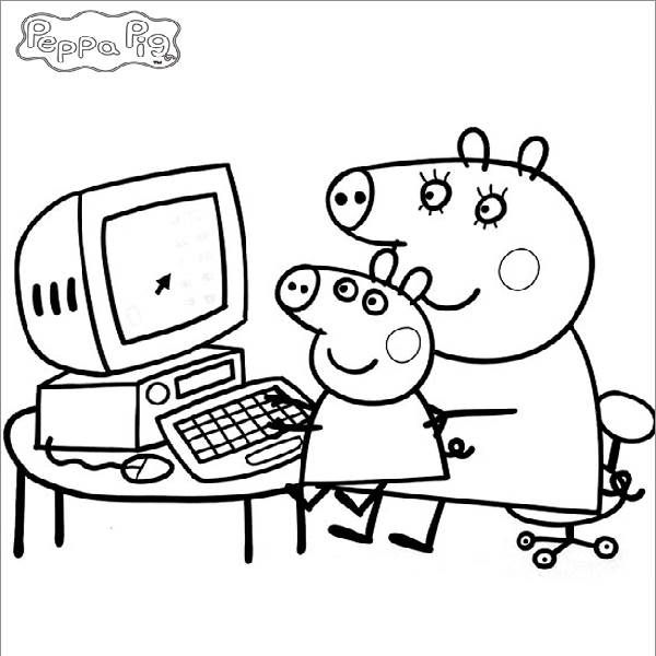 Peppa Pig Coloring In Pages Peppa coloring pages Pinterest - new free coloring pages for peppa pig