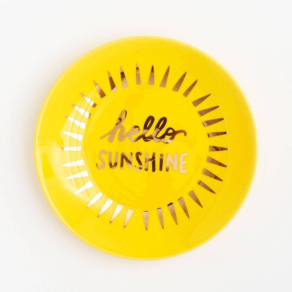 Hello Sunshine Trinket Dish Paper Source Trinket Dishes Hello Sunshine Yellow Dishes