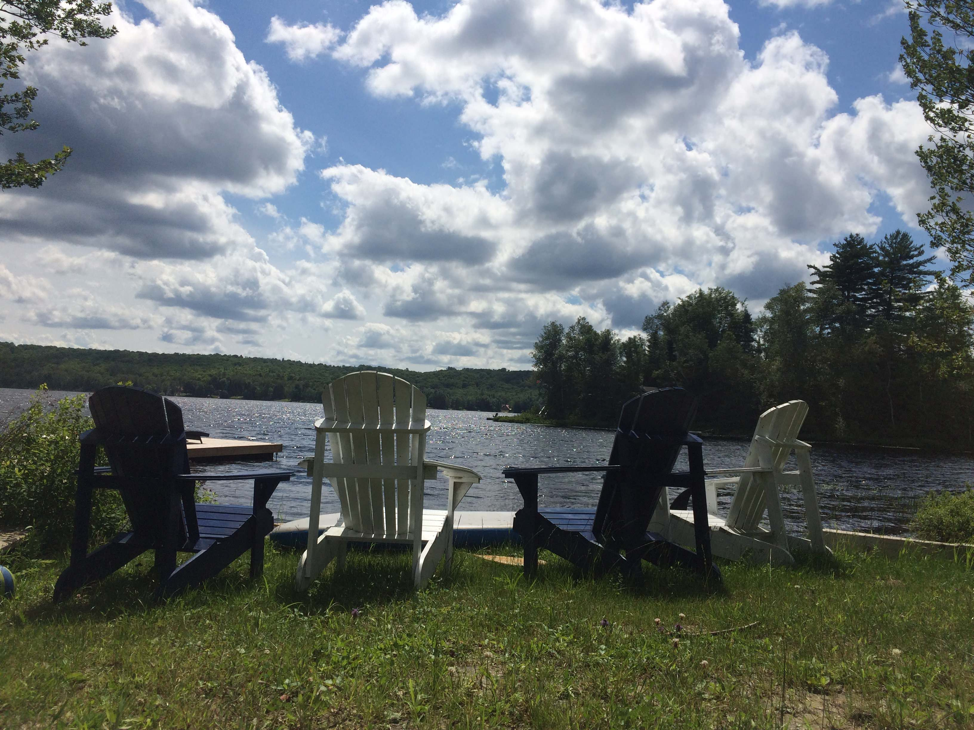 Muskoka Chairs By The Lake 3264 X 2448 Wallpapers Wallpaper