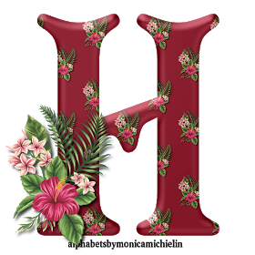 Alphabets By Monica Michielin Tropical Flowers Hawaii Alphabet And Icons Png Alfabeto Flores Tropica Tropical Flowers Tropical Flowers Hawaii Flower Alphabet