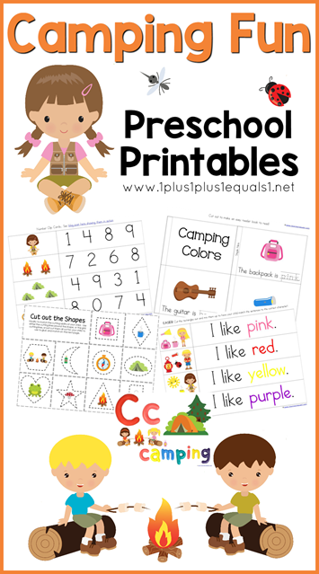 camping fun preschool printables camping theme learning
