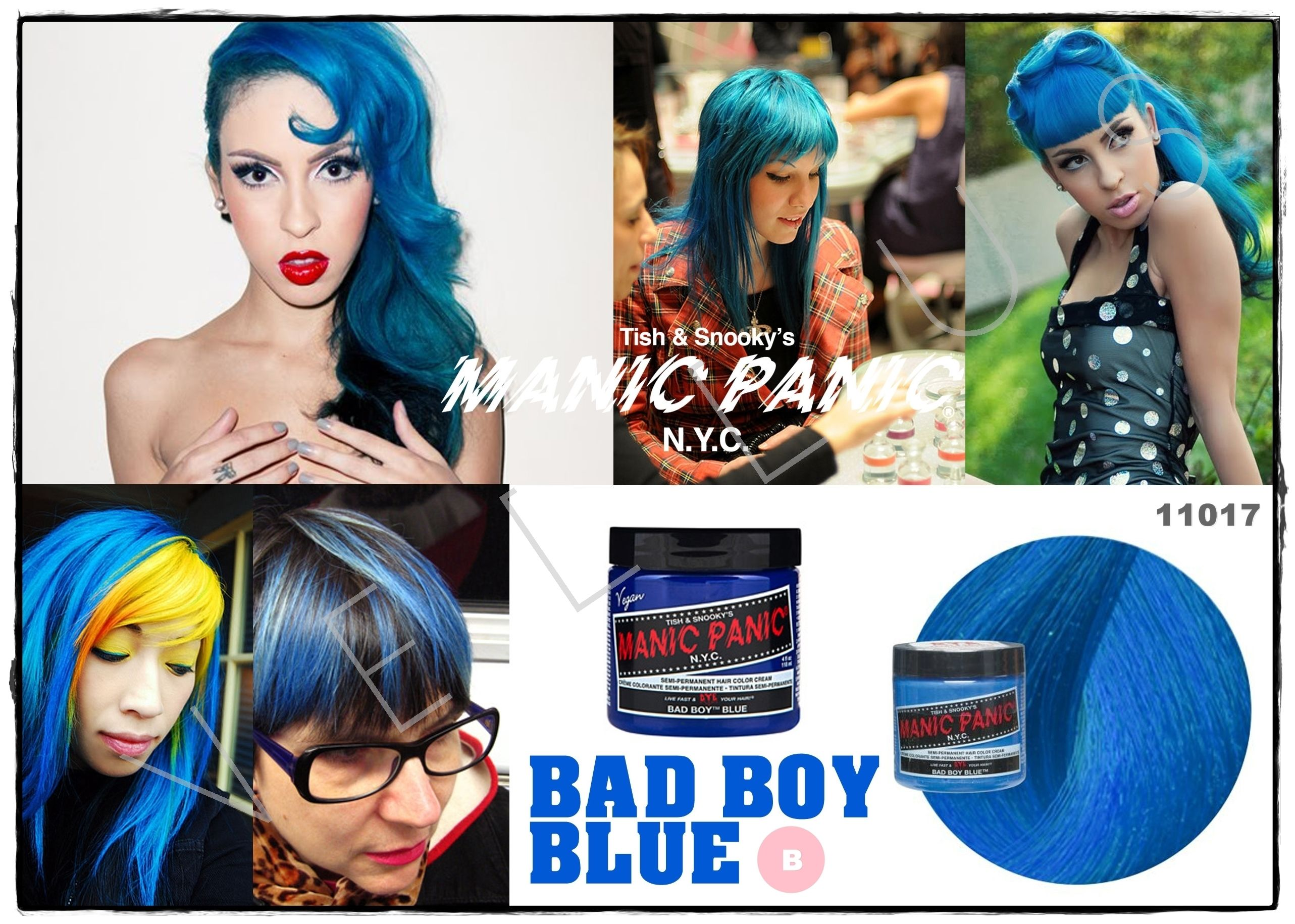 Manic Panic Classic Bad Boy Blue Vellus Hair Studio 83a Tanjong Pagar Road S 088504 Tel 62246566 Cabello Colores