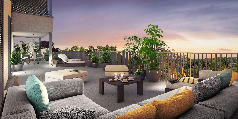 Appartement Neuf Avec Vue Et Terrasse De Plein Ciel A Toulouse Dans Le Nouveau Quartier Toulouse Aerospace Immobil Decoration Exterieur Immobilier Toulouse