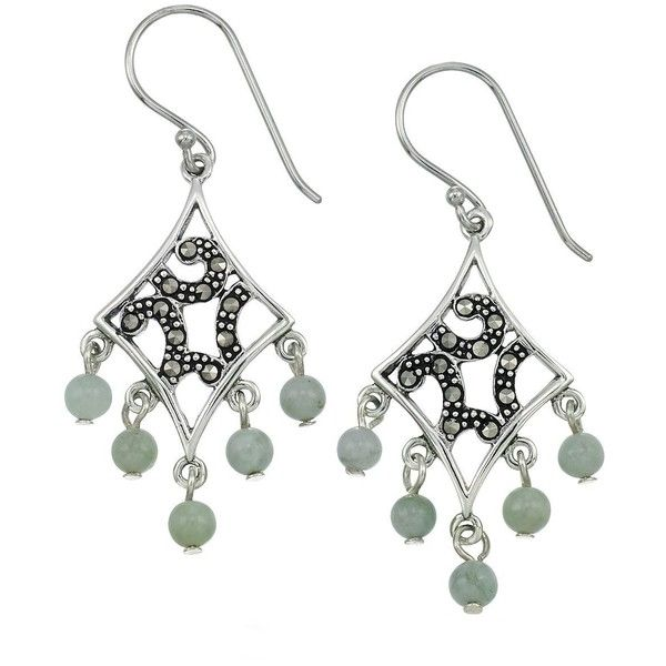 Lord taylor marcasite and jade chandelier earrings 64 liked lord taylor marcasite and jade chandelier earrings 64 liked on polyvore featuring aloadofball Image collections