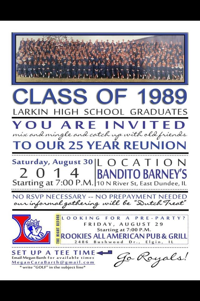 Fun High School Reunion Invitation High School Reunion Invites