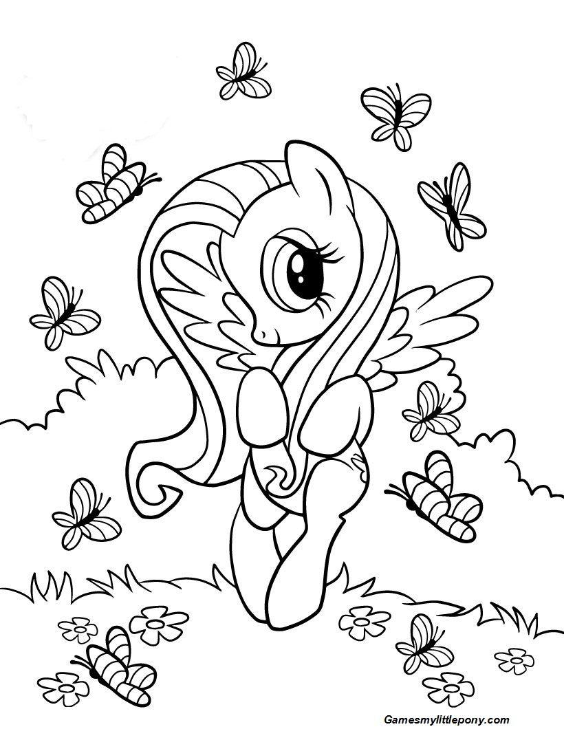 Fluttershy And Butterflies My Little Pony Coloring Unicorn Coloring Pages Butterfly Coloring Page [ 1060 x 820 Pixel ]