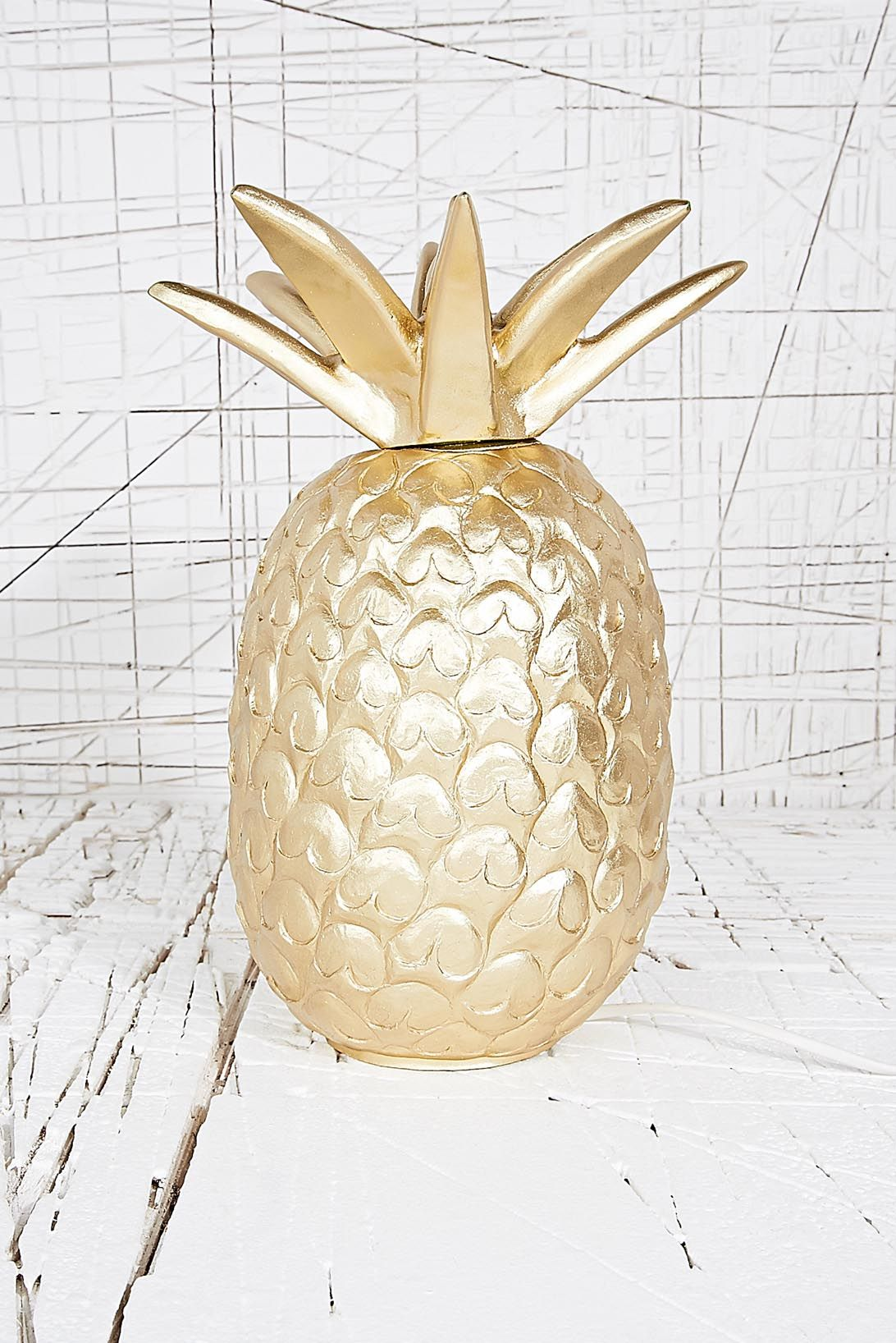 Golden pineapple lamp pretty objects pinterest pineapple lamp
