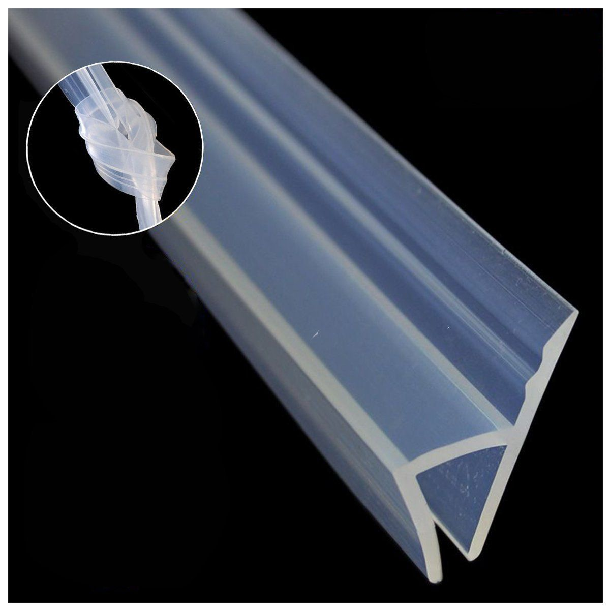 Showeet Customer Review Glass Shower Door Seal Strip No Adhesive Package Dimensions 9 5 X 6 5 X 2 2 Inches Glass Shower Door Seals Shower Door Seal Glass Shower Doors